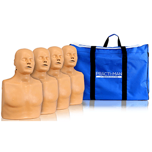 pack of four advanced manikins with bag