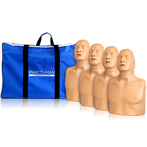 pack of four standard manikins with bag